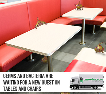 Germs Are Waiting on Tables and Chairs